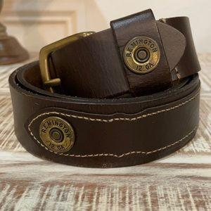 Remington 12 Gauge Shotgun Shell Leather Belt
